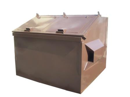 6 Yard Capacity Bear Proof Dumpster - Brown