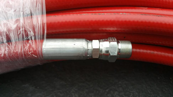Seal Spray Hose with Crimped Fittings-Sealcoating Parts-Anderson Pump & Process-100 foot Seal spray hose with 2 male swivel ends crimped and ready-Sealcoating.com
