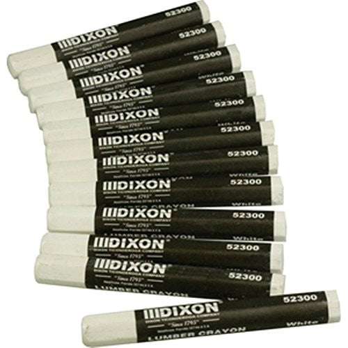 Dixon Lumber Crayons White-Marking & Layout Tools-The Brewer Company-Default-Sealcoating.com