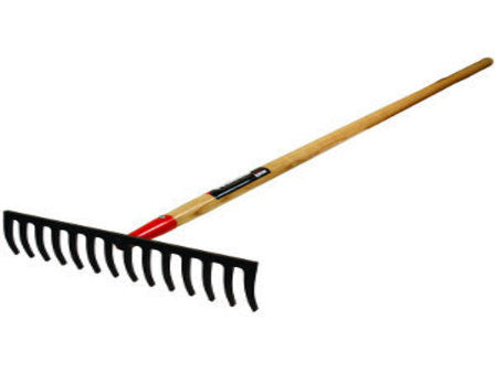 "BULLHEAD 17"" Forged Level Head Rake, 66"" Hardwood Handle-Landscape Hand Tools-Seymour Midwest-Default-Sealcoating.com"