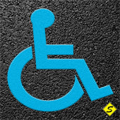 "Handicap Symbol (Blue) Preformed Thermoplastic 28"" x 24"" (Qty 5)-Preformed ThermoPlastic-Swarco Industries Inc.-90 MIL-Sealcoating.com"