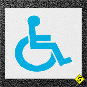 "Handicap Legend (White Mat with Blue Symbol) Preformed Thermoplastic 40"" x 40"" (Qty 2)-Preformed ThermoPlastic-Swarco Industries Inc.-90 MIL-Sealcoating.com"