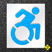 "Accessible Icon Paint Stencil-Stencils-Sealcoating Warehouse1-39"" Accessible Icon Paint Stencil -Standard Size-Sealcoating.com"