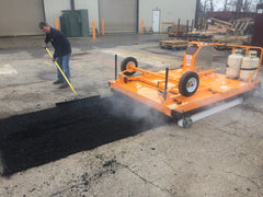 Application with Infrared Asphalt Heater Trailer 5ft x 8ft
