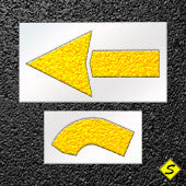 "Pavement Arrow Stencil Straight 2 Piece Kit-Stencils-CH Hanson-42"" Long Straight Arrow- 1/8"" Thickness-Sealcoating.com"
