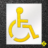 "Handicap Symbol Paint Stencil - Standard SMALL-Stencils-CH Hanson-28"" Handicap Medium Heavy Duty 1/8""-Sealcoating.com"