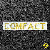 "COMPACT Car Paint Stencil-Stencils-CH Hanson-12"" Character Height-Sealcoating.com"