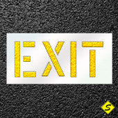 "EXIT Pavement Stencil-Stencils-CH Hanson-12"" Character Height; Thickness 1/16""-Sealcoating.com"