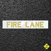 "FIRE LANE Paint Stencil-Stencils-CH Hanson-12"" Character Height; Thickness 1/8""-Sealcoating.com"