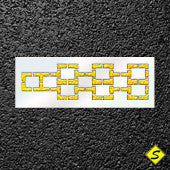 Hopscotch Medium Stencil-Stencils-Pavement Stencil Company-Default-Sealcoating.com
