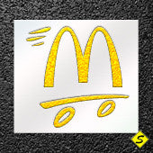 McDonald's Arches Parking Lot Paint Stencil (3 styles)-Stencils-CH Hanson-McDonalds M small stencil-Sealcoating.com