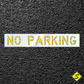 "NO PARKING Pavement Stencil-Stencils-CH Hanson-12 inch; 1/16"" thick Economy Stencil-Sealcoating.com"