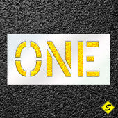 "The Word ""ONE"" Paint Stencil Large Character-Stencils-CH Hanson-Sealcoating.com"