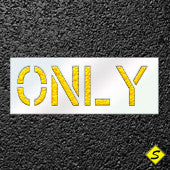 The Word ONLY Paint Stencil-Stencils-CH Hanson-Sealcoating.com