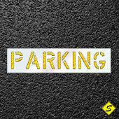 The Word PARKING Paint Stencil-Stencils-CH Hanson-Sealcoating.com