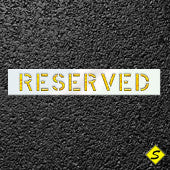 "RESERVED Paint Stencil-Stencils-CH Hanson-18"" Character Height; 1/8"" Thickness-Sealcoating.com"