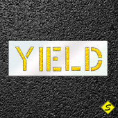 "YIELD Pavement Stencil for Painting-Stencils-CH Hanson-12"" Character Height-Sealcoating.com"