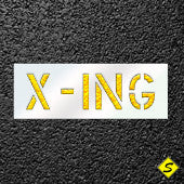 One Word X-ING Paint Stencil-Additives Sealcoating-CH Hanson-Sealcoating.com