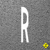 """R"" for Railways Preformed Thermoplastic Marking Legend (Qty 5)-Performed ThemoPlastic-Swarco Industries-125 MIL (WHITE)-Sealcoating.com"