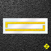 Pavement Line Stencil-Stencils-CH Hanson-10 foot stencil-Sealcoating.com
