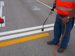 "Preformed Contrast Yellow Road Line-Preformed Thermoplastic-Swarco Industries-90 MIL (4"" x 3')-Sealcoating.com"