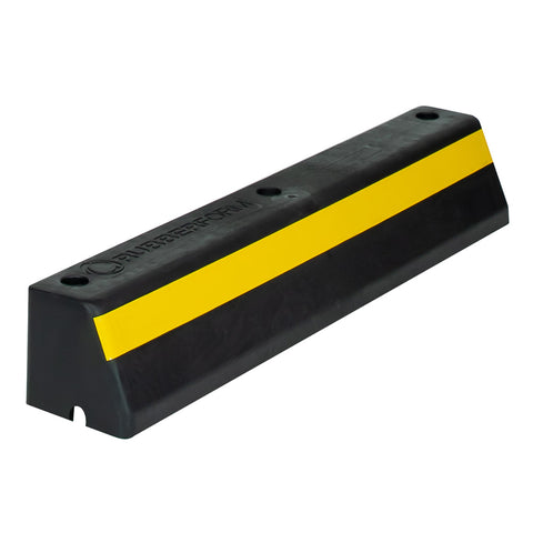 Rubber Sectional Roadway Barrier Curb with Yellow Reflective Strip
