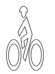 Bike Man Symbol Preformed ThermoPlastic 6'x3' (Qty 5)-Preformed ThermoPlastic-Swarco Industries Inc.-90 MIL (WHITE)-Sealcoating.com