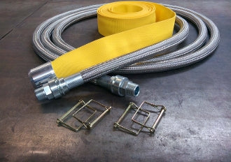 1 in x 20 ft Guardian Hose Non-Heated for All Melter PTFE Core - Built in Swivels and Removable Cover