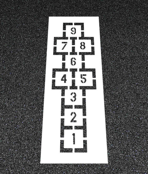 Hopscotch Stencil Triple Play Stencil-Stencils-Pavement Stencil Company-Default-Sealcoating.com