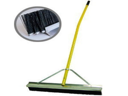 "28"" Industrial Maximum-Duty Broom - 3 Bristle Rows-Secialty Rakes-Seymour Midwest-Default-Sealcoating.com"