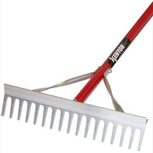 "Kenyon Classic 17"" Mini-Landscape Rake, 60"" Red Powder-Coated Aluminum Handle-Landscape Hand Tools-Seymour Midwest-Default-Sealcoating.com"