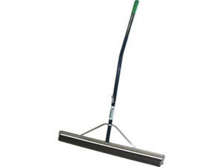 "24"" Non-Absorbent Roller Squeegee, 60"" Ergonomic Blue Powder-Coated Aluminum Handle-Secialty Rakes-Seymour Midwest-Default-Sealcoating.com"