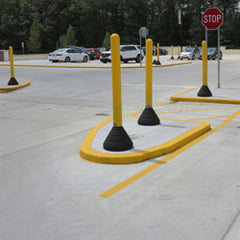 "52"" tall bollard with base and weight option"