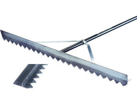 "24"" ProTurf Lute Rake - 66"" Blue Powder-Coated Aluminum Handle-Secialty Rakes-Seymour Midwest-Default-Sealcoating.com"