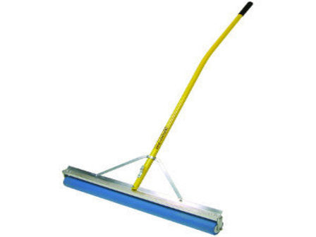"36"" PVA Absorbent Roller Squeegee, 60"" Ergonomic Yellow Powder-Coated Aluminum Handle-Secialty Rakes-Seymour Midwest-Default-Sealcoating.com"