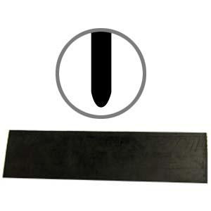 "3-1/2"" Aluminum Squeegee Replacement Rubber Round Edge-Crack Sealing Tools-The Brewer Company-Default-Sealcoating.com"