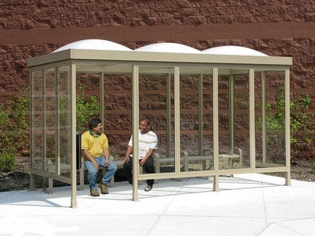 Smoking Shelter With Dome Top 15' x 5'-Shelters & Shade-Sealcoating-Sealcoating.com