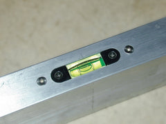 Tapered End Aluminum Straight Edge Level Inserted