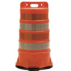 Standard Orange Traffic Safety Barrel w/ 6 in Stripes