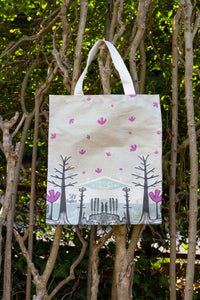 Cotton Tote Bag in Neutral Colours