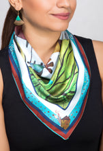 Load image into Gallery viewer, 'Where Distant Dreams Sail' Satin Neckerchief