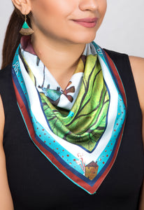 'Where Distant Dreams Sail' Satin Neckerchief