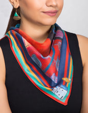Load image into Gallery viewer, 'Far and Away' - Satin Neckerchief