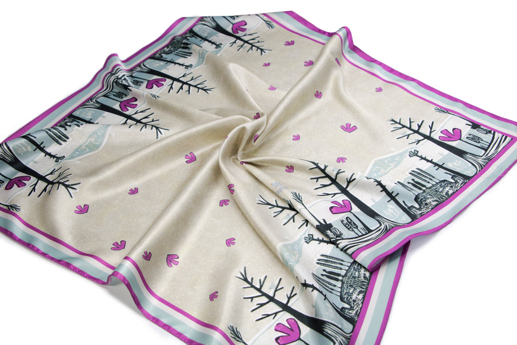 'A Winter Surprise' Satin Neckerchief
