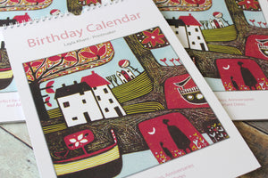 A4 Birthday Calendar - Linocut Prints