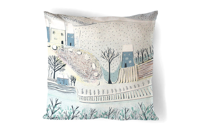 'Blue Winter' Cushion Cover