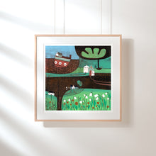 Load image into Gallery viewer, Original Linocut Print | 'Autumn Days'