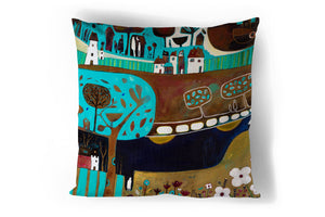 'In the Time of Blossoms' Cushion Cover