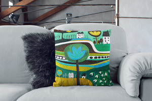 'Snowdrops' Cushion Cover