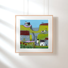 Load image into Gallery viewer, Original Linocut Print | 'The Hills Above the Shore'